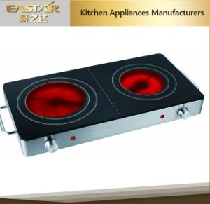 Double Burner Ceramic Glass with Infrared Cooker pictures & photos