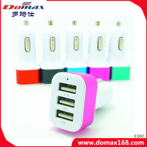 Mobile Cell Phone Multi 3 USB Travel Adaptor Car Charger pictures & photos