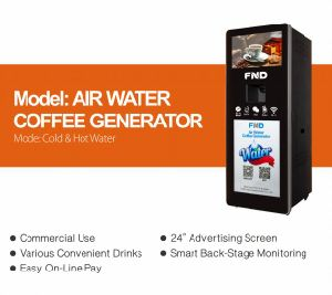 Air Water Machine Atmospheric Water Coffee Generator 100L/Day with Water Purifier pictures & photos