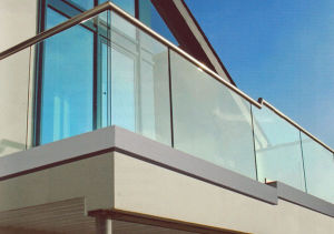 Frameless Balcony Railing Design U Channel Balustrade System pictures & photos
