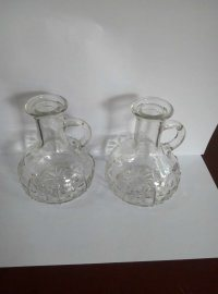 Handle Glass Bottle, Oil Glass Bottle with Glass Lid pictures & photos