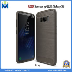 Factory Rugged Armor Silicone Gel Carbon Fiber TPU Back Case for Samsung Galaxy S8 S8 Plus pictures & photos