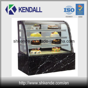 Commercial Refrigerated Cake Showcase with Curved Glass