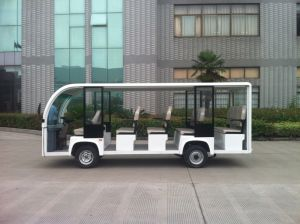 7.5kw 14 Seats Electric Sightseeing Bus City Bus for Sale pictures & photos