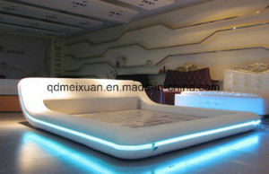New Leather Bed Sell LED Lights Leather Bed Export Double Bed (M-X3717) pictures & photos