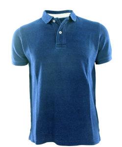 Men New Design Knitting Denim Fashion Polo Shirts Top Clothing (EE17051)