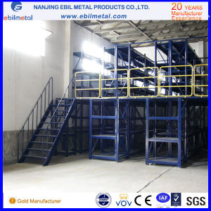 Multi-Level Warehouse Steel Mezzanine Storage Rack with Different Floor Style pictures & photos