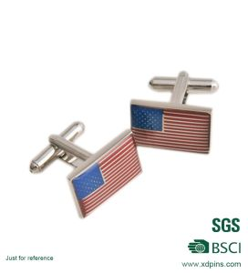 Customized Newly Flag Logo Printed Cuff Link pictures & photos