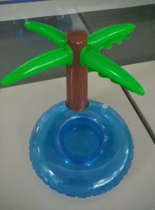 Mini Palm Tree Pool Floating Drink Inflatable Can Holder pictures & photos