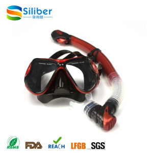 Adult Professional Big Eye Swimming Diving Mask and Snorkel Set pictures & photos