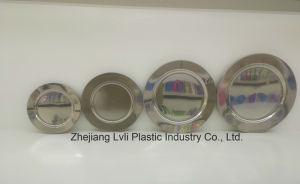 Plastic Plate, Disposable, Tableware, Tray, Dish, PS, SGS, Silver, PA-02