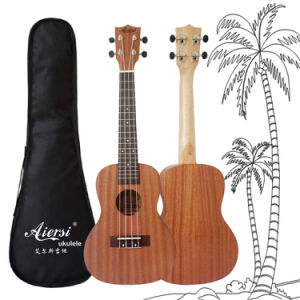Aiersi Small Guitar 23 Inch Mahogany Concert Hawaii Ukulele for Sale pictures & photos