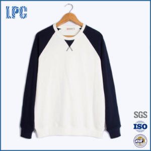 Custom Contrast Color Fleece Sweatshirt for Men pictures & photos