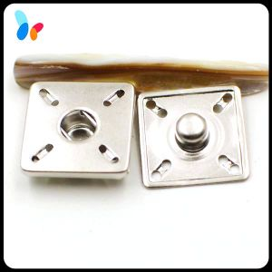 Square Nickel Plated Sewing Snap Button for Clothes pictures & photos