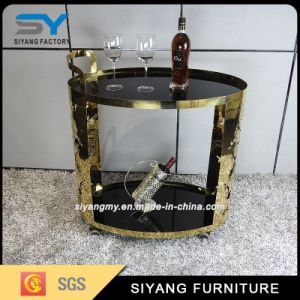 European Design Restaurant Furniture Gold Metal Dining Car pictures & photos