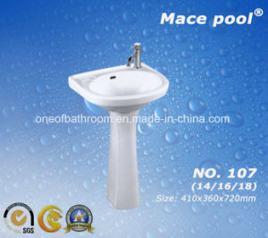 Oval Pedestal Sink for Hand Washing in Public (107) pictures & photos