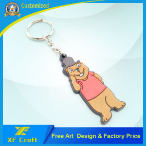 Cheap Customized Plastic PVC Rubber Key Ring for Promotion Gift (XF-KC-P40) pictures & photos