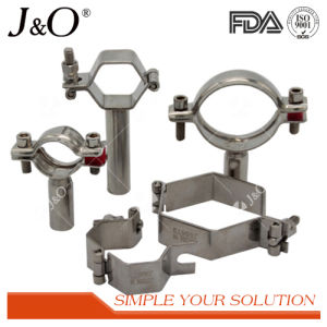 Stainless Steel Sanitary Hexagon Pipe Fitting Pipe Support Pipe Holder Without Base pictures & photos