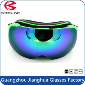 Customized Strap Winter Anti Fog Snow Sports Goggles Spherical Dual Lens Unisex pictures & photos