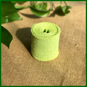 Colored Jute Burlap Cloth Roll (Green) pictures & photos
