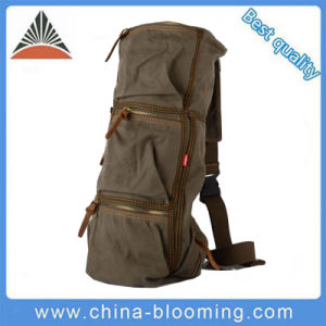 Stylish Men′s Crossbody Outdoors Pack Single Shoulder Canvas Chest Sing Bag pictures & photos
