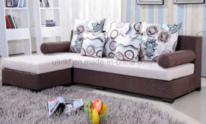 Modern Fabric Living Room Wooden Frame Sofa Sets (HX-SL008) pictures & photos