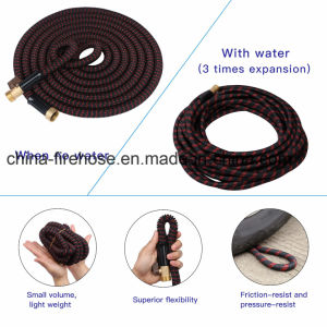 Newest 2017 50FT Expandable Garden Hose - Guaranteed by Best 12 Month Warranty Available- Strongest Brass Connections - Free Gift 7 Pattern Spray Nozzle - No Ki pictures & photos