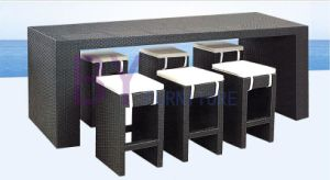Black Rectangle Bar Coffee House Restaurant PE Rattan Furniture pictures & photos