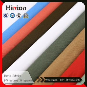 Hot Sale Thick Pant Fabric 97% Cotton 3% Spandex Fabric for Pant pictures & photos