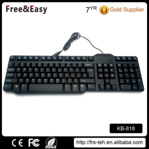 Black OEM PC Desktop Slim USB Wired Keyboard pictures & photos