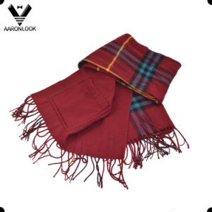 Retail Blanket Tartan Fashion Plaid Pattern Pocket Shawl Scarf pictures & photos