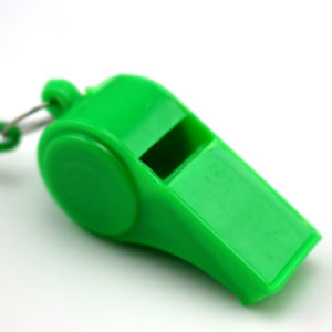 Portable Sos Emergency Whistle En71 Children Toy Game Sport Plastic Whistle pictures & photos