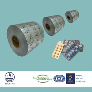 ISO/Fssc/Ohsas Certified Pharmaceutical Ptp Aluminum Foil for packaging Pills Alloy 8011 H18 pictures & photos