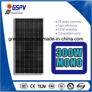 High Efficiency Mono Solar Panel 300W-345W with TUV, Ce, ISO, CQC pictures & photos