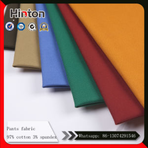 Pants Factory Hot Sale Stretch Thick Pant Fabric 330GSM pictures & photos