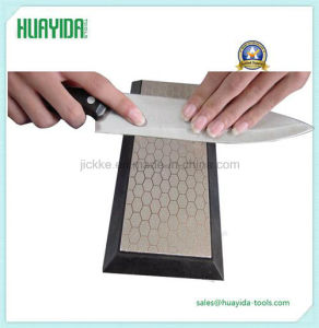 Double Dual Sided Sharpener Diamond Knife Sharpening Stone Whetstone 400# 1000# pictures & photos