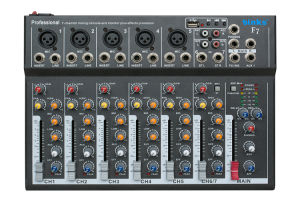 7 Channel Professional Mixer Sound Console (F7) pictures & photos