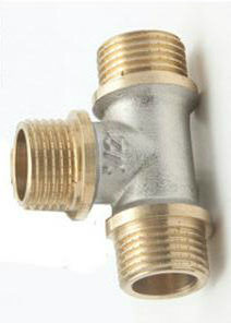 1/2′′ 3-Way Brass Fitting with Nickel pictures & photos