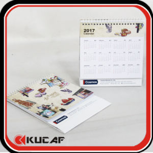 Advertising Laser Die Cut & Gold Hot Stamping Pearl Paper Calendar 2018 pictures & photos