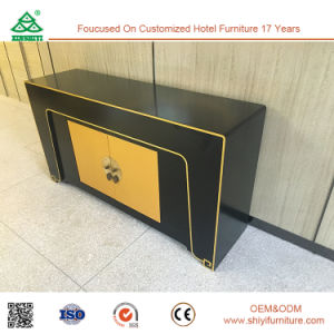 Black and Golden Painting Wood Sideboard pictures & photos