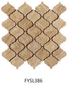 Stone Mosaic Lantern Shape Floor Tile (FYSL386) pictures & photos