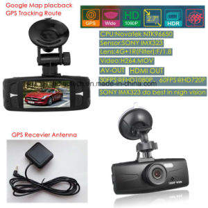 "Cheap 2.7"" GPS Tracking Sony Imx 323 Car Black Box Built-in GPS Logger Receiver, Google Map Tracking Route, HD1080p Dash Camera Recorder DVR-2713G pictures & photos"