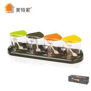 Metka Kitchenware Seasoning Box 4 Cans Spice Jar pictures & photos
