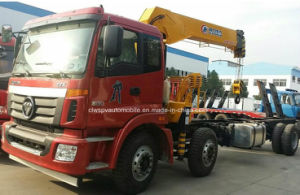 Auman 3 Axles 10 Tons Truck with Crane for Sale pictures & photos