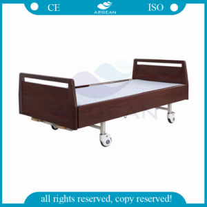 AG-Bys117 Ce ISO Approved Adjustable Two Cranks Manual Hospital Bed pictures & photos