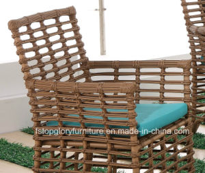 Modern Leisure Outdoor Furniture Rattan Garden Wicker Dining Table and Chairs (TG-1303) pictures & photos