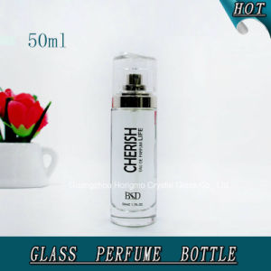 50ml Round Cylinder Glass Perfume Bottle for Man pictures & photos