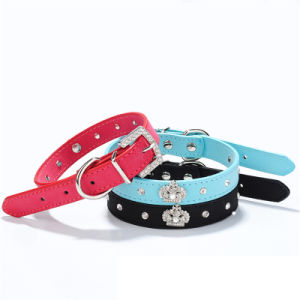 Suede Decorative Crown Pet Dog Collar pictures & photos