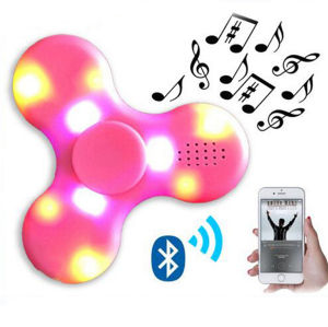 LED Light Hand Finger Spinner with Bluetooth Music Speaker