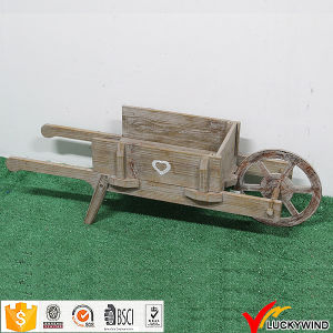 One Wheel Handmade Provincial Antique Wooden Garden Cart pictures & photos